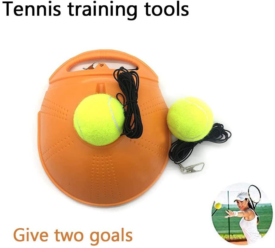 Gambol Tennis Return Trainer Solo Tennis Trainer Rebounder Ball Tennis Ball Practice Trainer Tennis Trainer Ball with String (Orange)