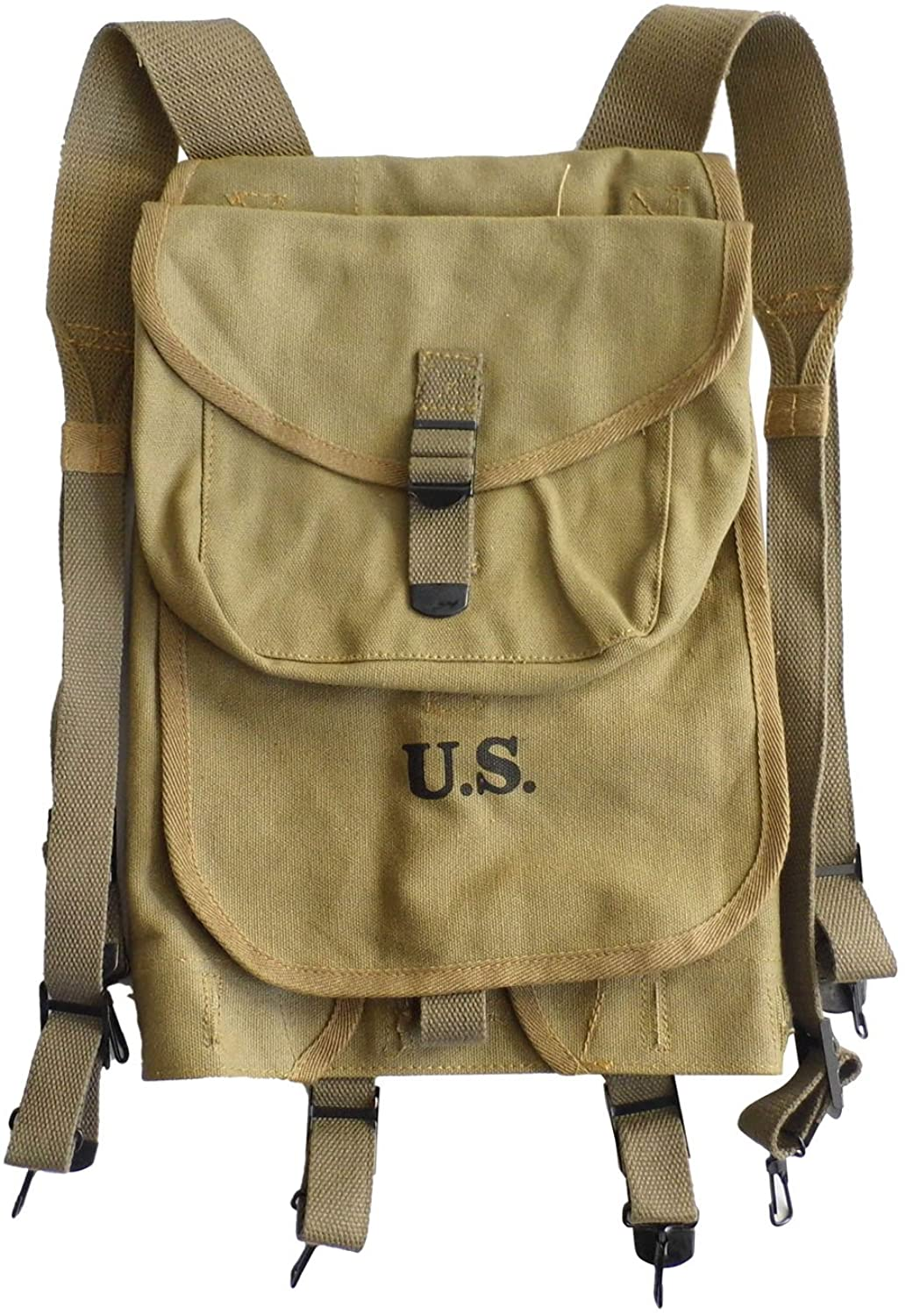 WW2 US Solider M1928 Haversack Khaki Canvas Material Reproduction WWII