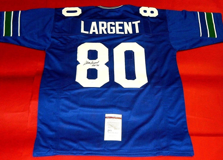 Signed Steve Largent Jersey - Throwback Hof 95 - JSA Certified - Autographed NFL Jerseys