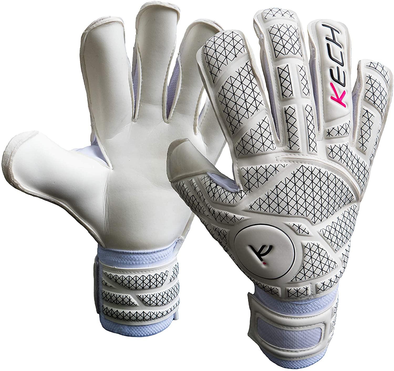 Kech GK Goalkeeper Gloves (Sizes 6-10) | EVA Fingersaves Protection | German Giga and Contact Grip Palms | Negative Roll-Finger Cut | Professional Elite Goalie Glove