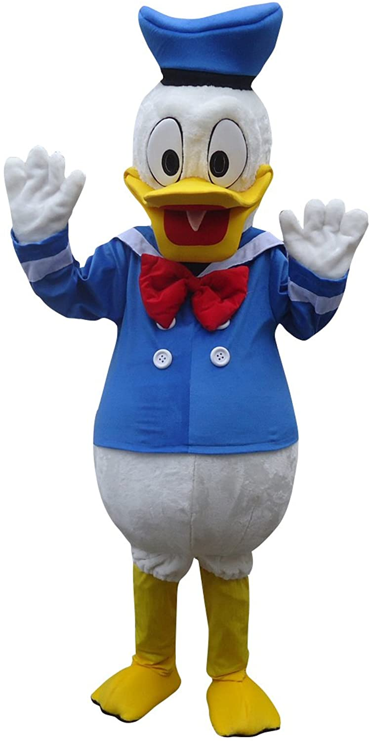 Donald Duck Adult Mascot Costume Cosplay Fancy Dress Outfit