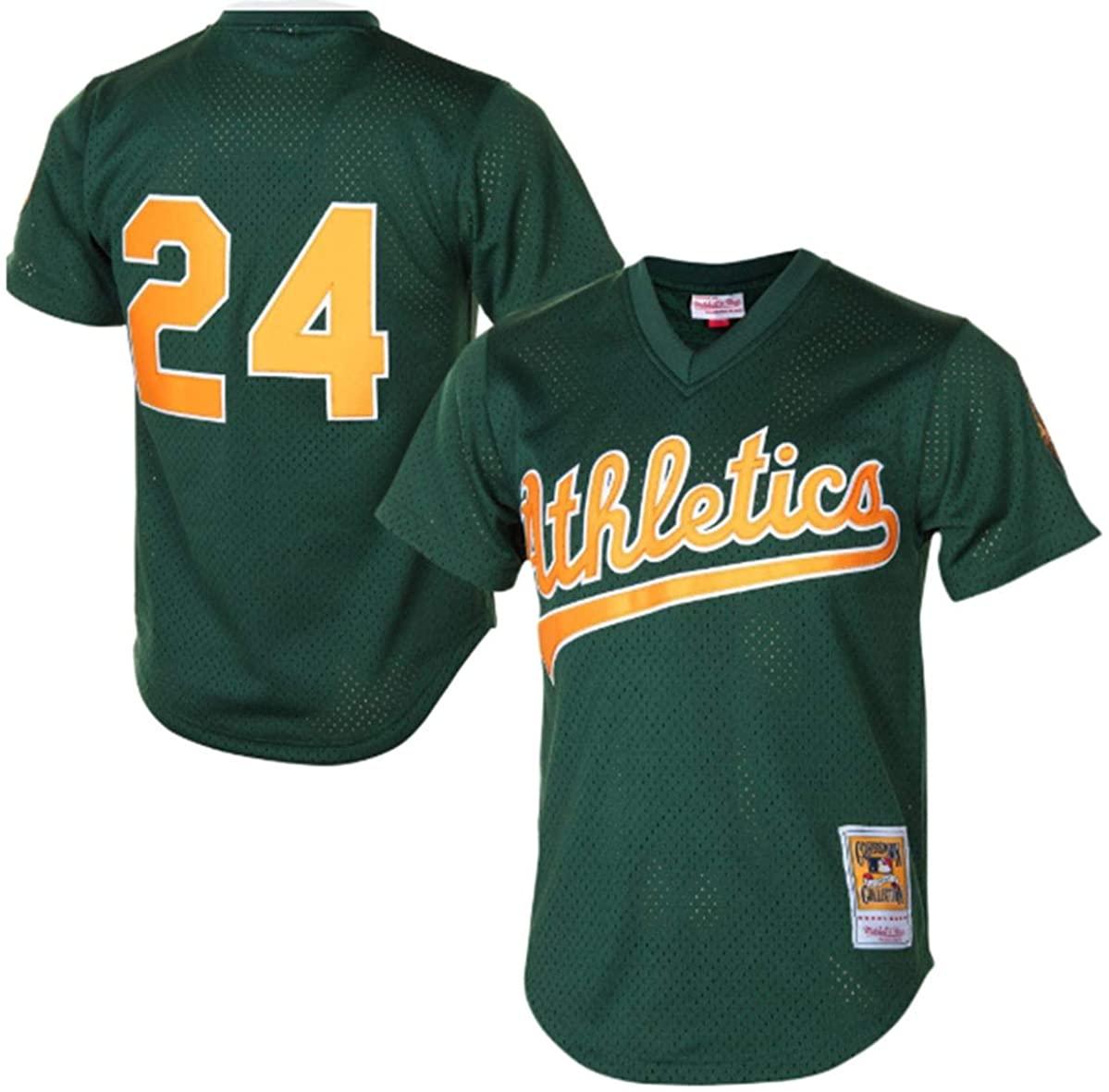 Rickey Henderson Oakland Athletics 1998 Cooperstown Mesh Batting Practice Jersey