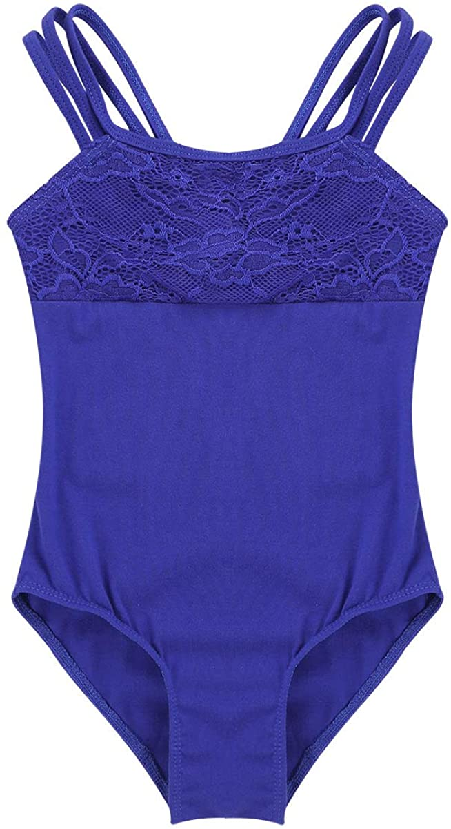 Agoky Kids Girl's Lace Tank Gymnastics Ballet Dance Camisole Leotard Tops Athletic Sports Outfit