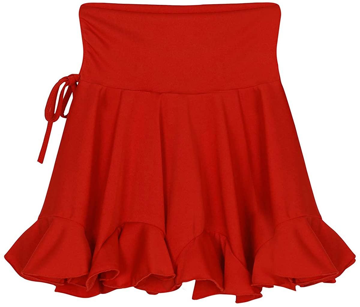 TiaoBug Women's Fashion Latin Dance Skirt Tango Swing Rumba ChaCha Skirt