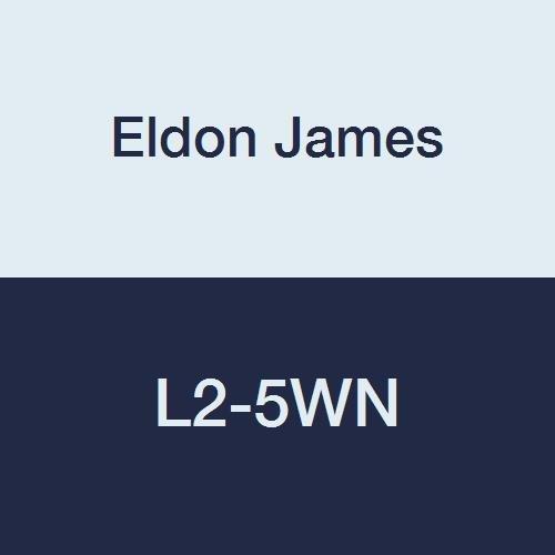 Eldon James L2-5WN White Nylon Threaded Elbow, 1/8-27 NPT Thread to 5/16