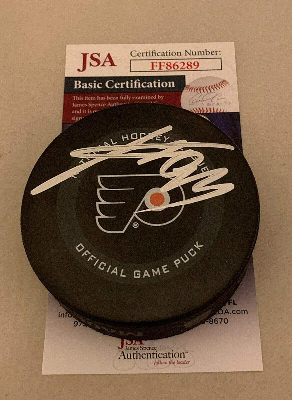 Signed Jakub Voracek Puck - Official - JSA Certified - Autographed NHL Pucks