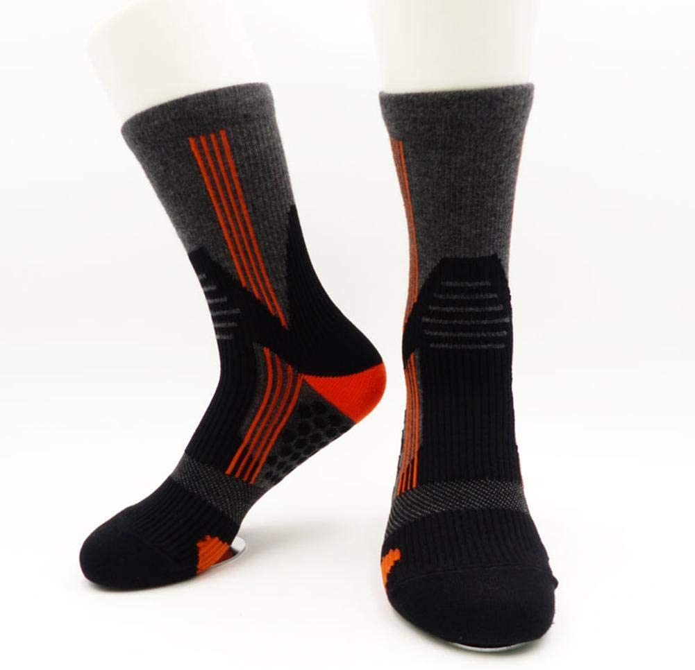 Woolves Men's Compression Socks Anti-Slip Shock Absorption Breathable Sports Socks for Marathon Mountain Climbing - Relieves (Mid-Length )