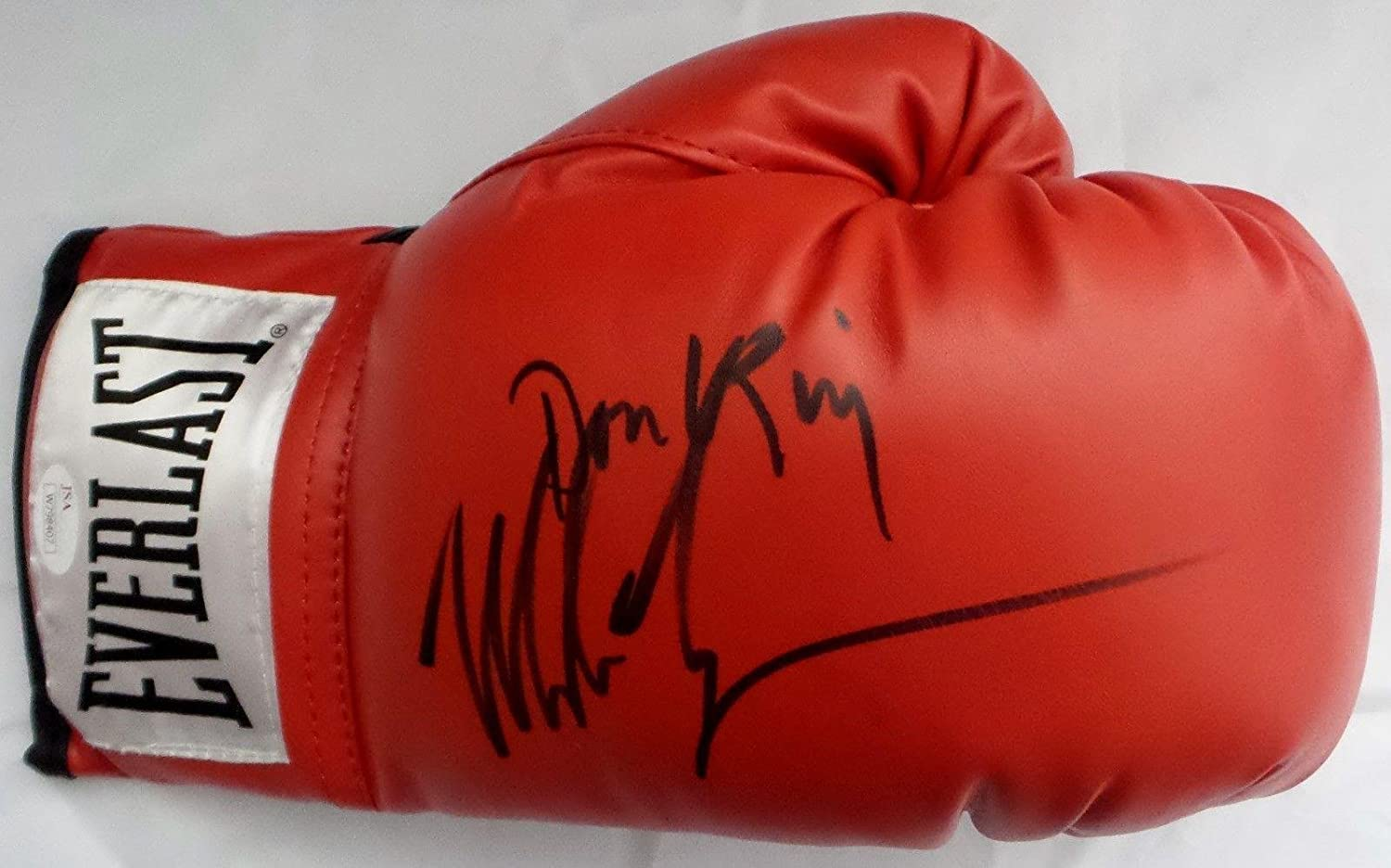 Mike Tyson Don King Signed Autographed Red Everlast Boxing Glove Authentic 4 - JSA Certified - Autographed Boxing Gloves