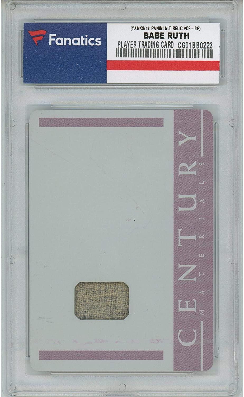 Babe Ruth New York Yankees 2018 Panini National Treasures Century Materials Relic #CE-BR #1/1 Card - Panini - Fanatics Authentic Certified