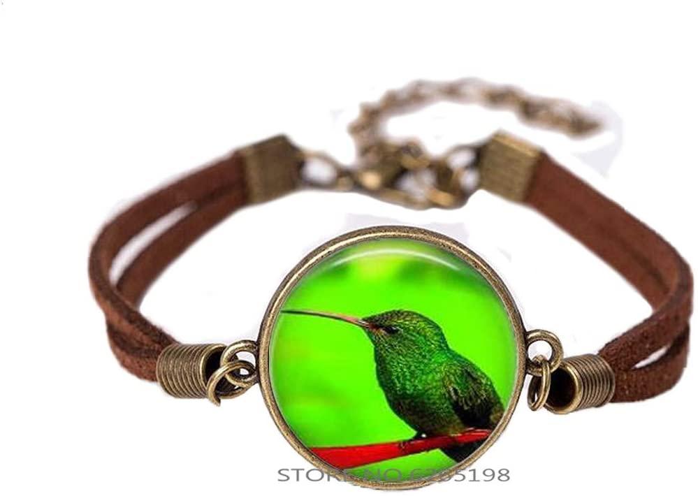 Parrot Art Bangle Bracelet Parrot Jewelry,Parrot Charm Handmade Glass Photo Art Bracelet,Simple Bracelet,N252