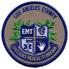 EMBROIDERED UNIFORM PATCHES & EMBLEMS Los Angeles County Medical Services Shoulder Patch - Emergency Medical Technician