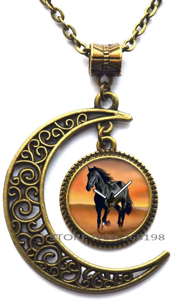 Horse Necklace,Horse Jewelry,Horse Pendant,Horse Gift,Gift for Horse Lover,Horse Gift.Animals Necklace.Wild Horses,N021