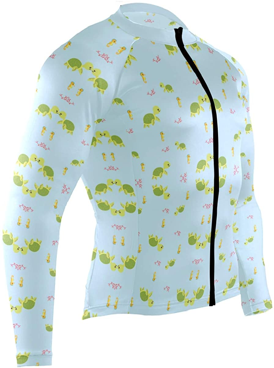 Mens Cycling Jersey Shirt Dogs Seamless Pattern Long Sleeve Bike Jersey Riding Tops