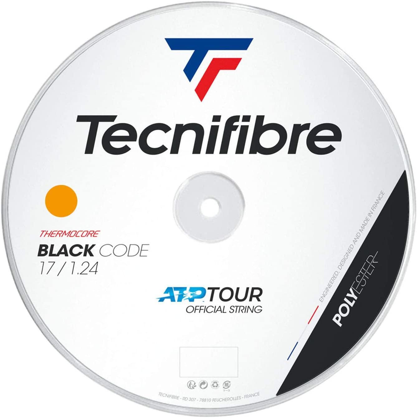 Tecnifibre Black Code 17G (1.24mm) Tennis String 200m Reel - Fire