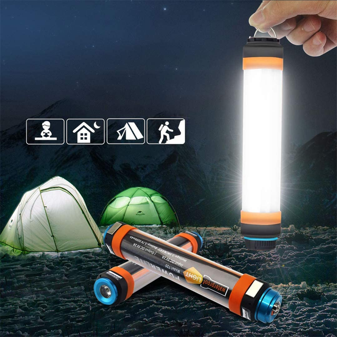 LED Camping Lantern with Magnet Tent Light USB Charging Outdoor Emergency Power Light 6 Modes Flashlight Mosquito Repellent