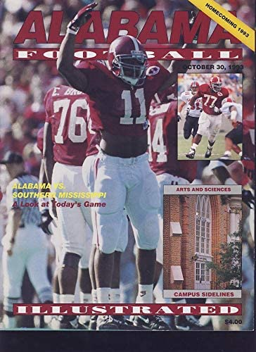 1993 Alabama vs. Southern Mississippi Football Program - College Programs