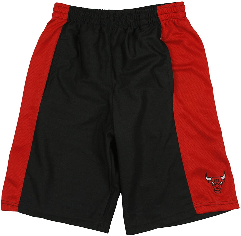 Zipway Chicago Bulls NBA Big & Tall Men's Basketball Shorts - Black