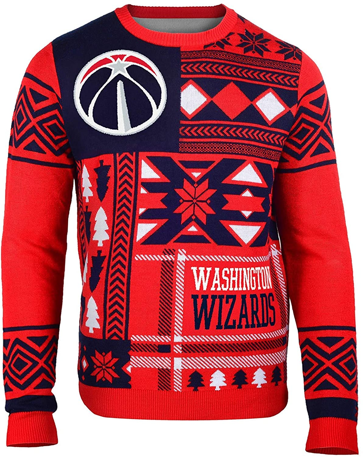 Washington Wizards Patches Ugly Crew Neck Sweater Double Extra Large