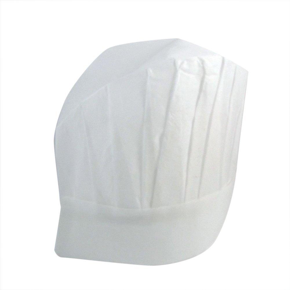 Conversancy (50 pcs) White Professional Disposable Paper Cooking Kitchen Adult Chef Hats.