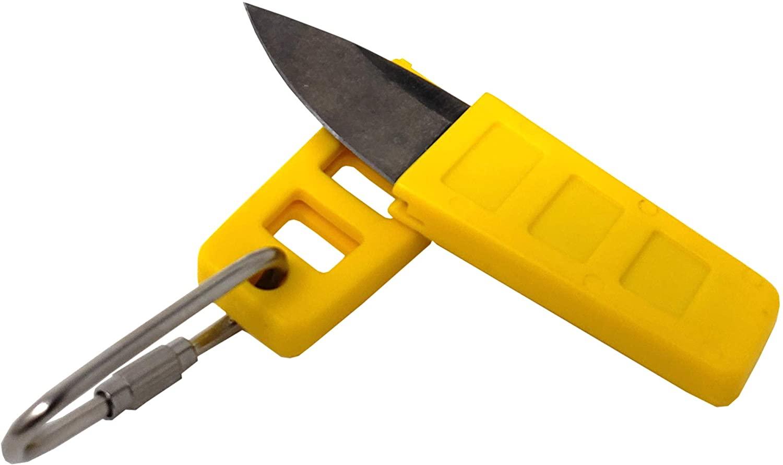 Sirius Signal SE-1001-Y Sea Xtra Edge Mini Watersports Knife with Carabiner, Yellow