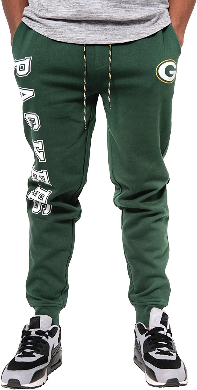 Ultra Game NFL Green Bay Packers Mens Jogger Pants Active Basic Fleece Sweatpants, Team Color, Large
