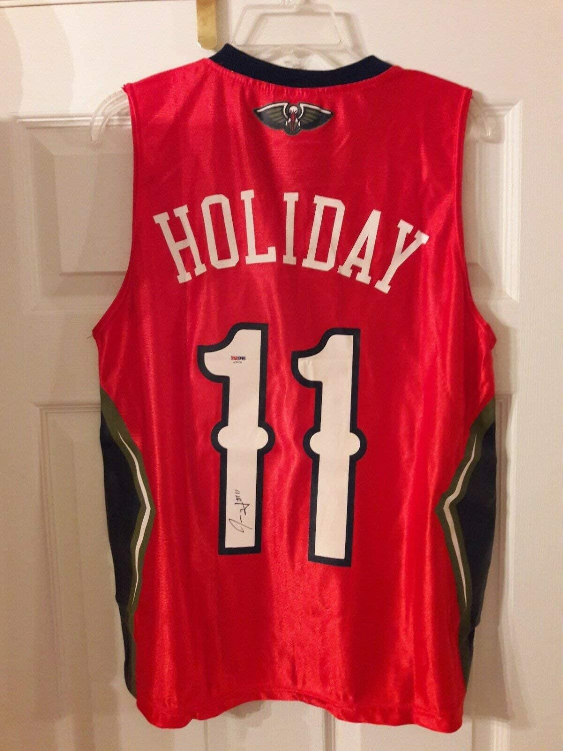 Jrue Holiday Autographed Signed New Orleans Pelicans Sga Jersey Size Youth Xl PSA/DNA