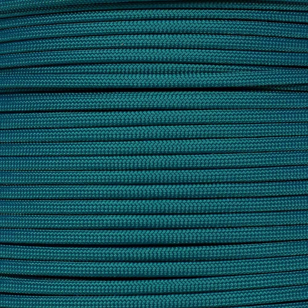 PARACORD PLANET 10 20 25 50 100 Foot Hanks and 250 1000 Foot Spools of Parachute 550 Cord Type III 7 Strand Paracord (Teal 50 Feet)