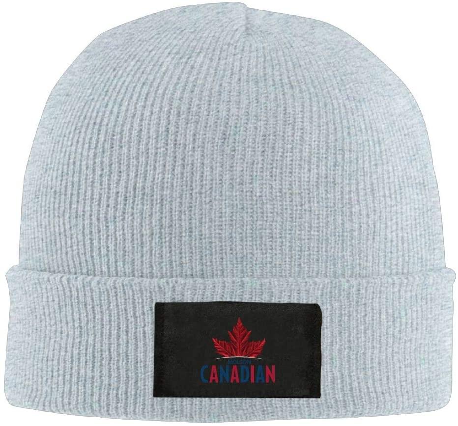 POP-Front Mens Womens Knit Beanie Hat MOL-Son Ca-nadian Beer Logo Warm Winter Hat Skull Cap Unisex