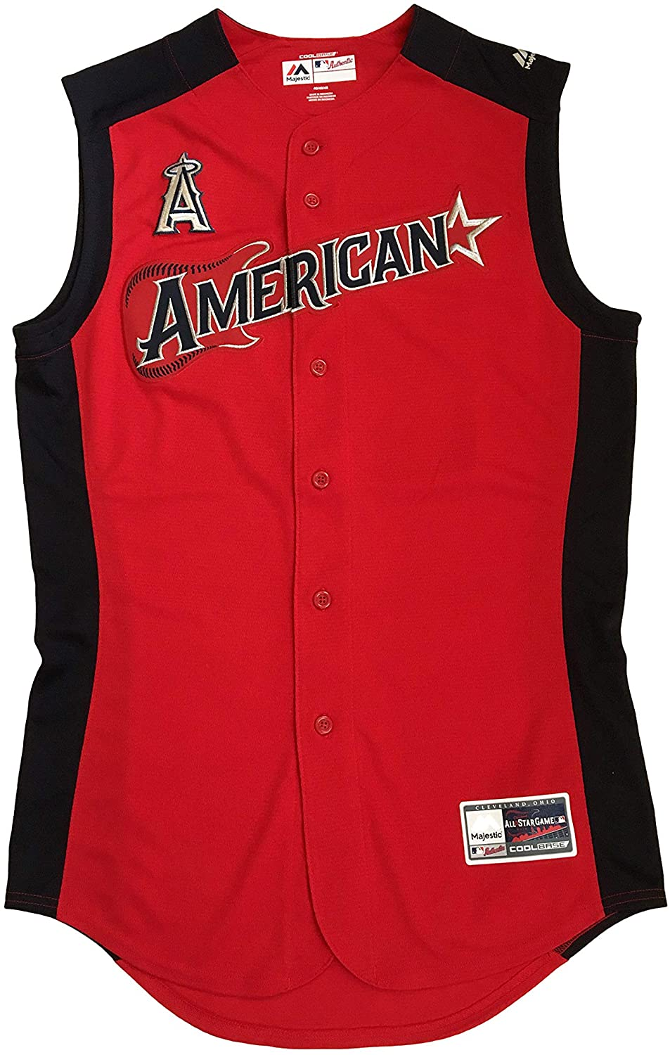 Majestic Los Angeles of Anaheim Mike Trout 27 Mens Jerseys American League 2019 MLB All-Star Game Workout Jersey