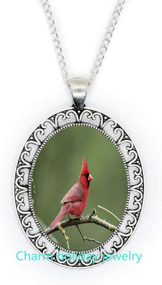 Cardinal Pendant,Necklace,Cardinal Necklace,Cardinal Red Bird Necklace, Bridesmaid Jewelry-#219