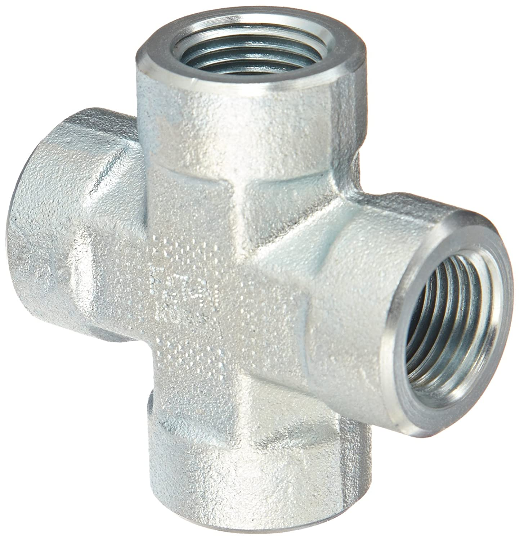 Eaton Aeroquip 2080-6-6S Steel Pipe Fitting, Cross, 3/8