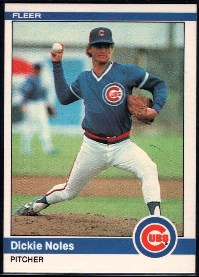 1984 Fleer Baseball #500 Dickie Noles Chicago Cubs