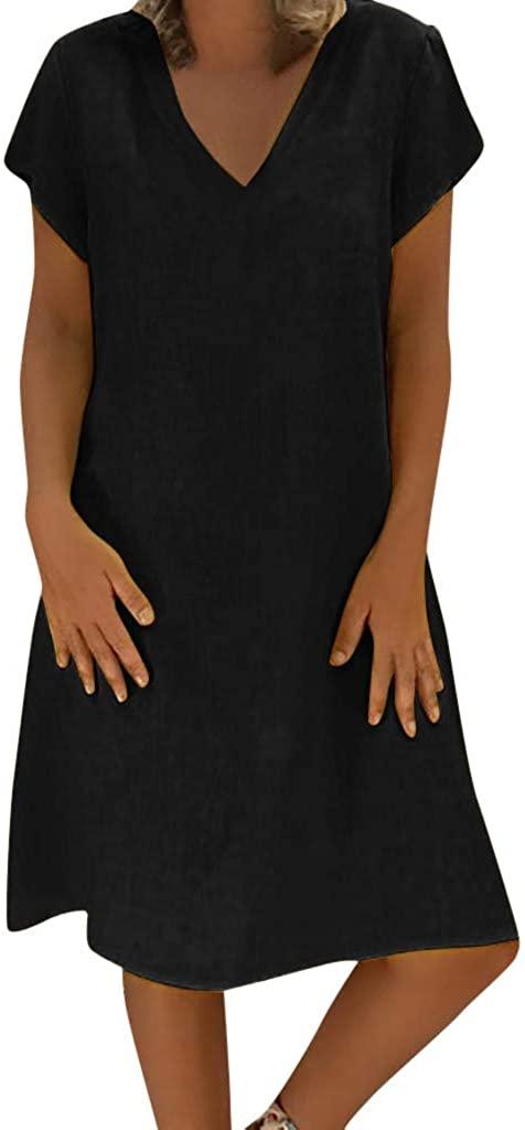 ZEFOTIM Women Casual Summer Style Feminino Vestido T-Shirt Cotton Plus Size Ladies Dress