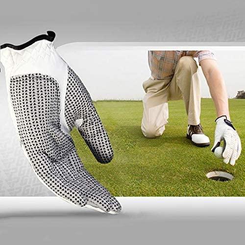 YINZHI Golf Accessories, Left Hand Sheepskin Anti-Slip Particle Golf Men Gloves, Size: 23#