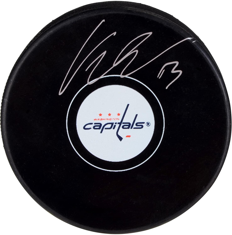 Jakub Vrana Washington Capitals Autographed Hockey Puck - Fanatics Authentic Certified - Autographed NHL Pucks