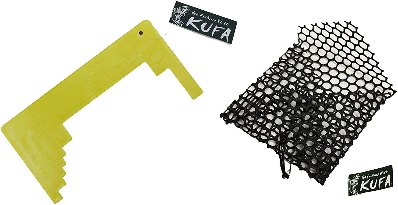 KUFA Sports 0320 Plastic Mesh Crab Bait Bag and Crab Measurer Kit, Black, m