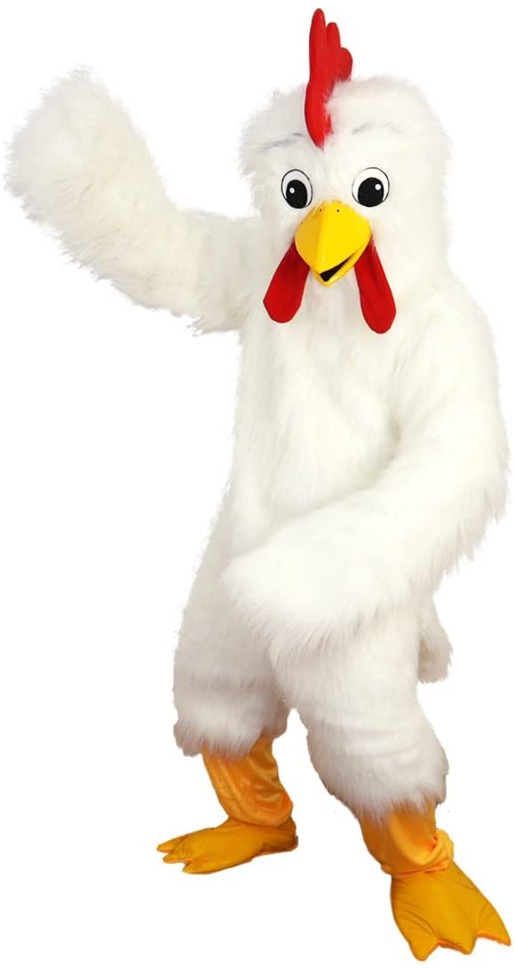 White Eagle Bird Chicken Mascot Costume Cartoon Character Adult Sz Real Picture