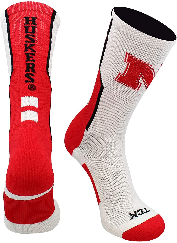 TCK Nebraska Cornhuskers Socks Perimeter Crew