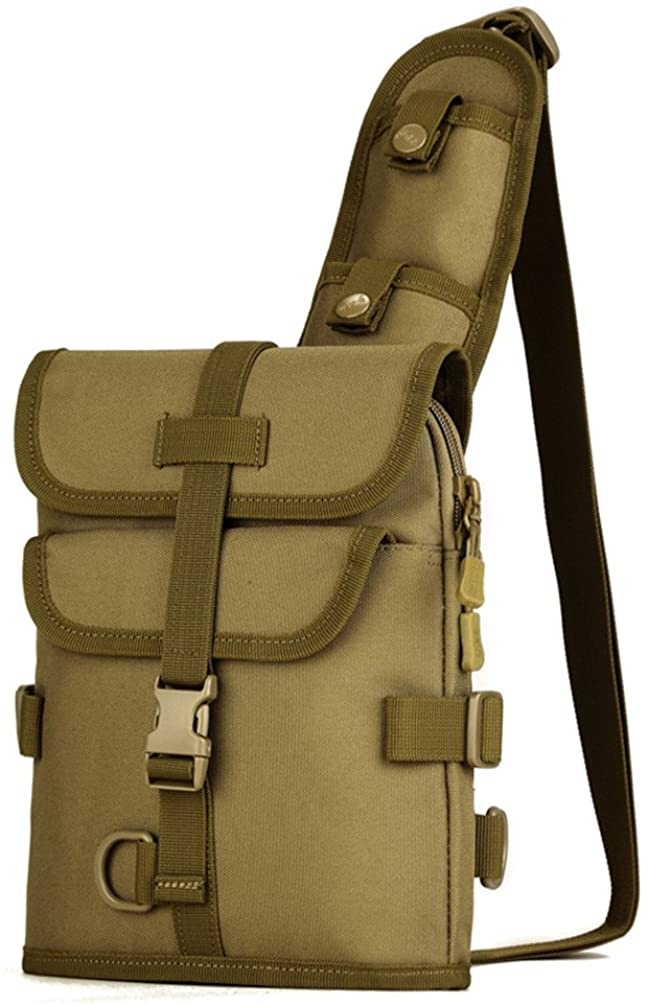 Protector Plus Tactical Chest Pack Military Sling Bag Daypack Backpack Casual Shoulder Bag Crossbody Duty Gear For Hunting Fishing Cycling Camping Trekking