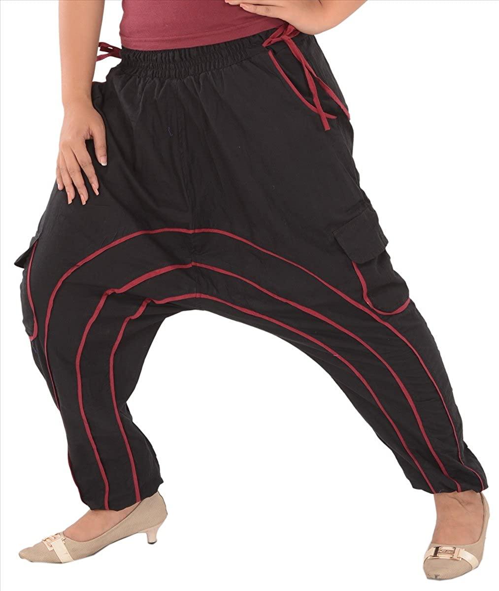 SAJ Women's Cotton Sarouel/Afghani/Harem Pant/Pajama