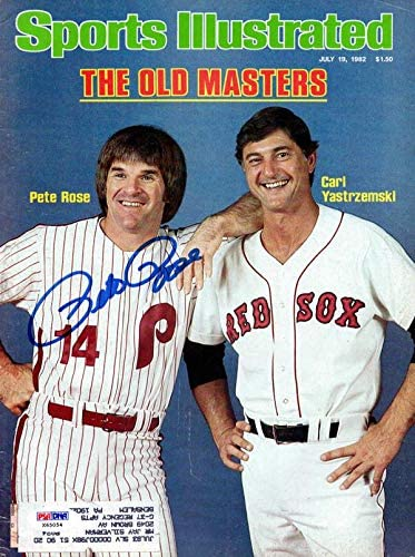 Pete Rose Autographed Sports Illustrated Magazine Philadelphia Phillies #X65054 - PSA/DNA Certified - Autographed MLB Magazines