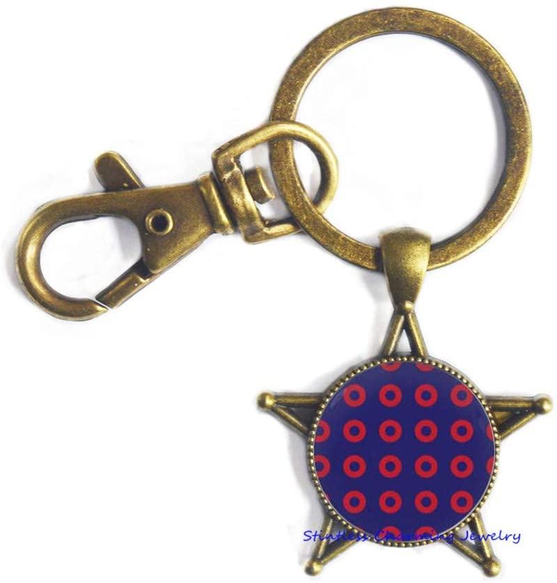 Fishman Keychain Men's Gifts,Fishman Donut Key Ring Keychain Jewelry,Fishman Handmade Keychain -JV57