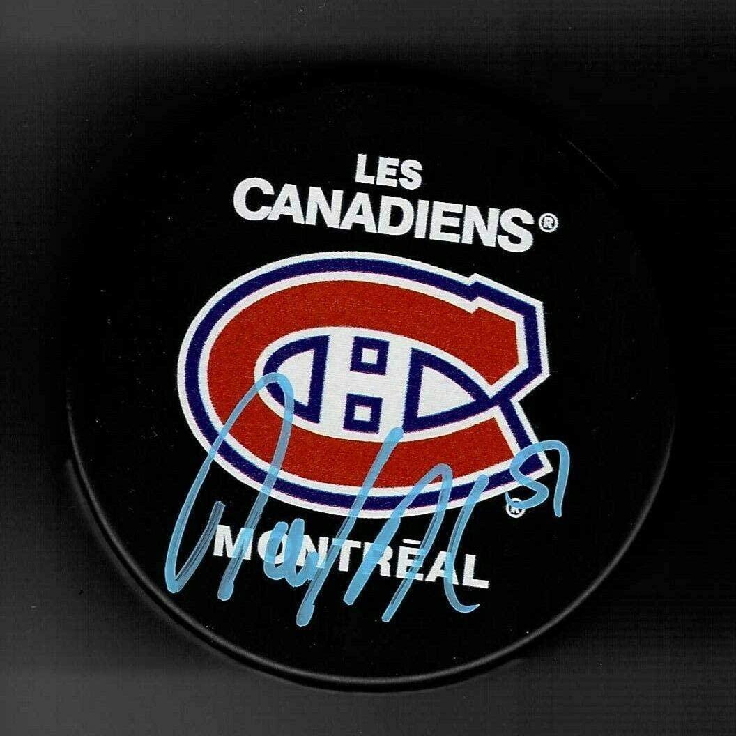 David Desharnais Autographed Puck - Souvenir - Autographed NHL Pucks