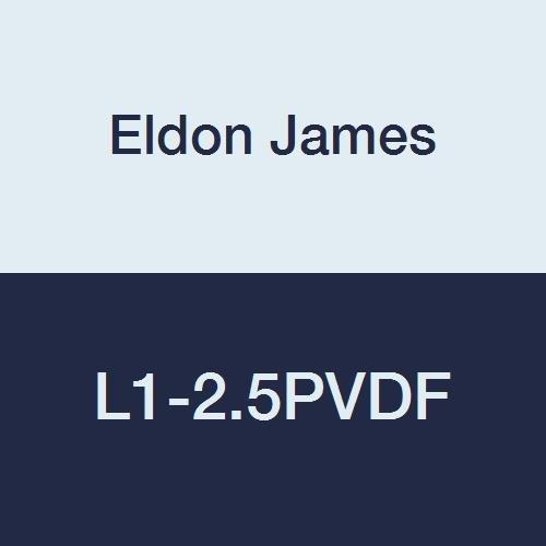Eldon James L1-2.5PVDF Gray Kynar Threaded Elbow, 1/16-27 NPT Thread to 5/32