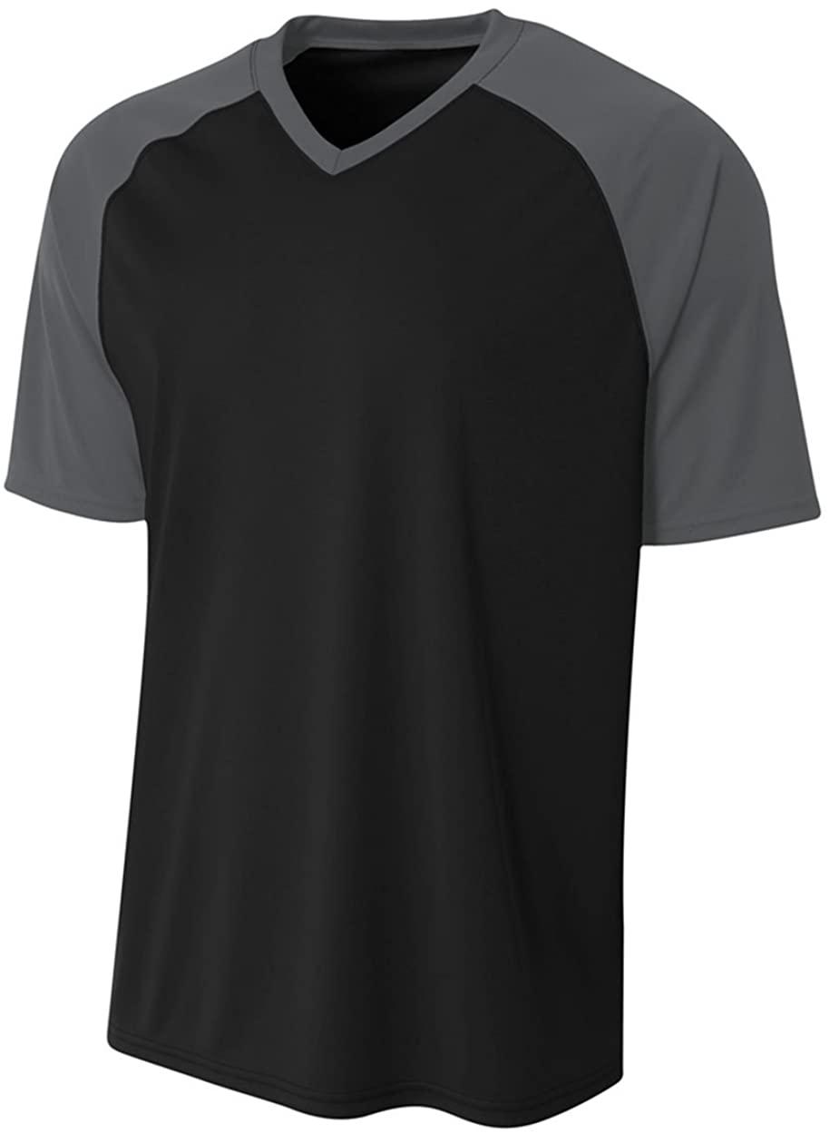 A4 Sportswear Black/Graphite Adult XL Strike Jersey (Blank)
