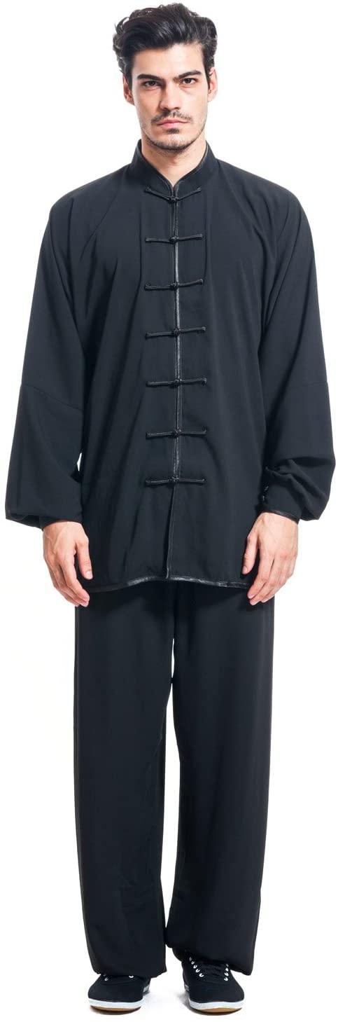 ICNBUYS Men's Kung Fu Tai Chi Uniform Cotton Silk