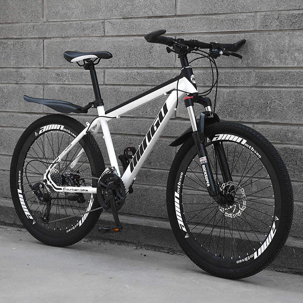 RICHLN Man Women Adult All Terrain Mountain Bike,Adjustable Seat & Handlebar,Dual Disc Brake Hardtail Mountain Bike,Foldable Mountain Bikes