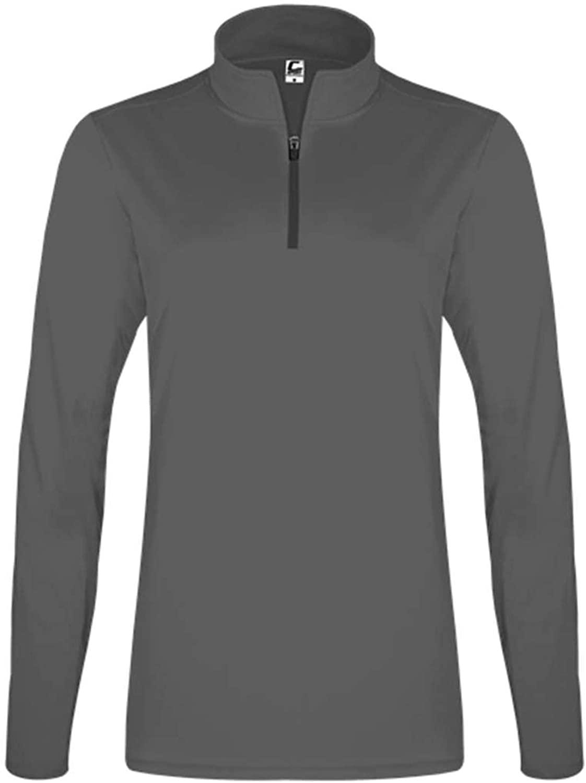 C2 Sport Women's Quarter-Zip Pullover - L/Graphite