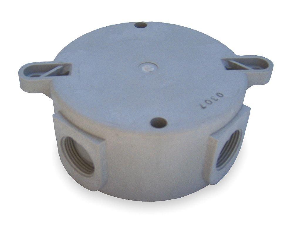 Killark NV2XG Ceiling Box for NV2 Series, Dupont Rynite FR530, 4.75