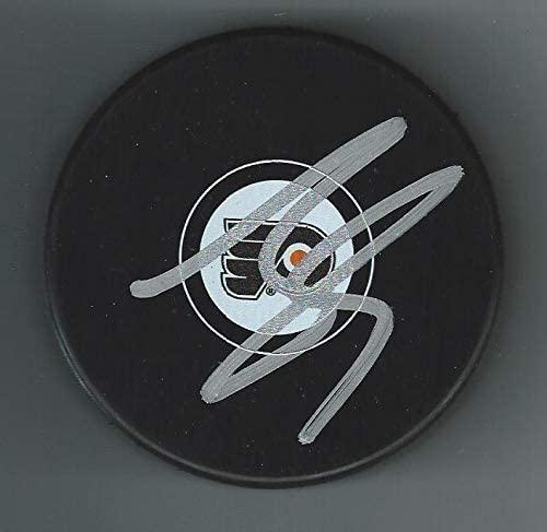 Isaac Ratcliffe Autographed Puck - Autographed NHL Pucks